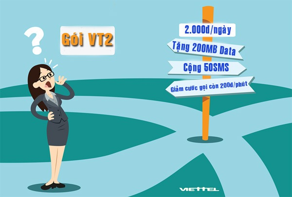 gói cước VT2 Viettel