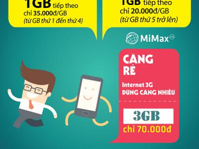 đăng ký gói MiMax1.5 Viettel