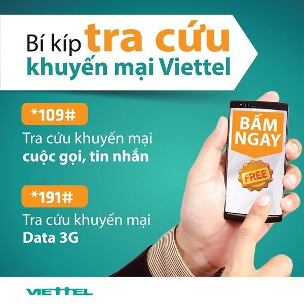 kiểm tra khuyến mãi 3G Viettel