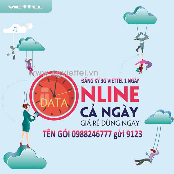 Đăng ký 3G Viettel 1 ngày ưu đãi KHỦNG giá gói siêu tiết kiệm