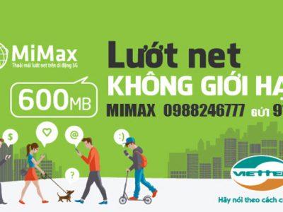 Đăng ký gói cước Mimax Viettel trọn gói 70.000đ