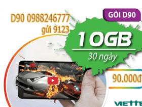 Đăng ký gói cước D90 Viettel cho Dcom chỉ 90.000đ