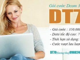 Đăng ký gói cước DT70 Viettel cho Dcom ưu đãi 7GB chỉ 350.000đ