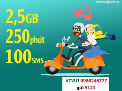 Đăng ký gói cước VT VUI Viettel ưu đãi 3G, nhiều phút gọi và SMS
