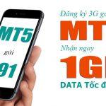 Đăng ký 3G ngày gói cước MT5 Viettel chỉ 5.000đ nhận 1GB data