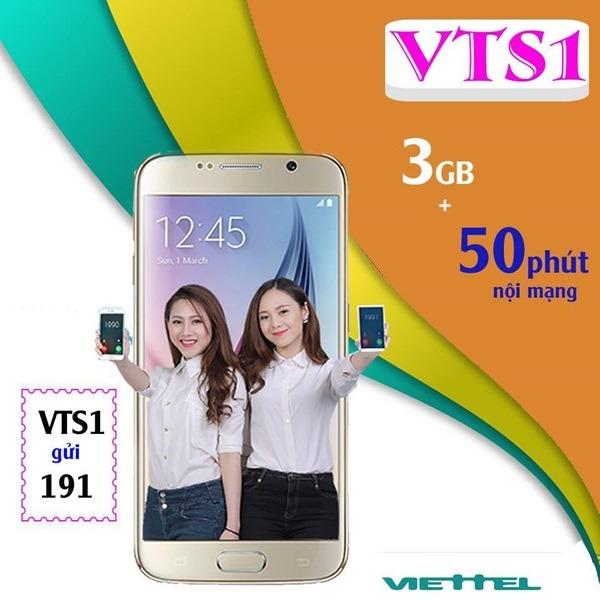 Đăng ký gói cước VTS1 Viettel có ngay 3GB và 50 phút gọi
