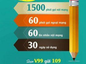 Gói cước V99 Viettel nhận ưu đãi khủng 3 trong 1 chỉ 99.000đ
