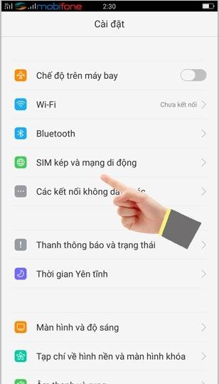Hướng dẫn bật 4G Viettel trên cho điện thoại OPPO