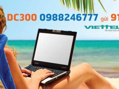 Đăng ký gói DC300 Viettel sử dụng Internet trọn gói 6 tháng