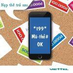 Hướng dẫn dùng thẻ cào thanh toán cước thuê bao trả sau Viettel