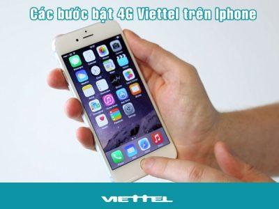 Hướng dẫn cách bật 4G Viettel trên Iphone nhanh nhất