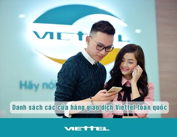 danh sach cua hang Viettel