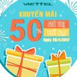 khuyen mai Viettel ngay 20-4-2017