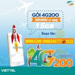 Đăng ký gói cước 4G200 Viettel chỉ 200.000đ