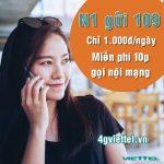 Đăng ký gọi nội mạng gói N1 Viettel chỉ 1.000đ có ngay 10p gọi