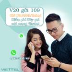 Đăng ký gói cước V20 Viettel ưu đãi 50p gọi nội mạng chỉ 20.000đ