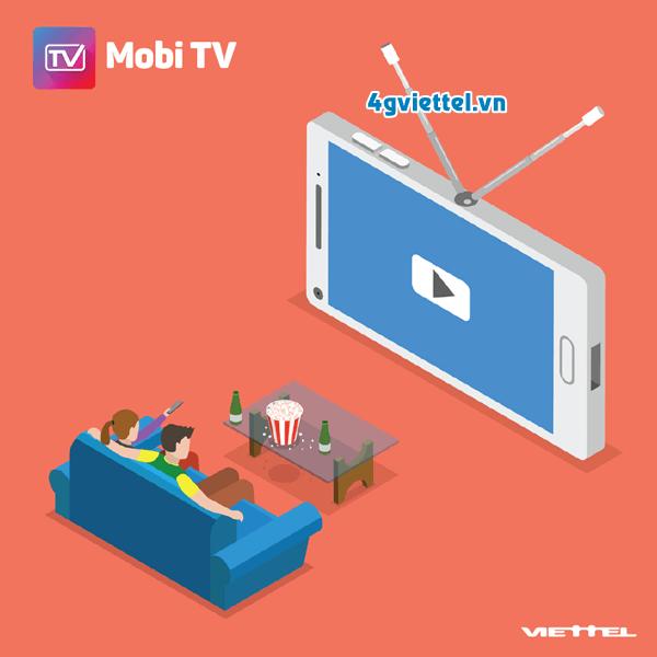 Dịch vụ MobiTV Viettel xem tivi trên di động miễn phí 3G/4G