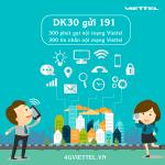 Đăng ký gói DK30 Viettel khuyến mãi liên lạc nội mạng hấp dẫn