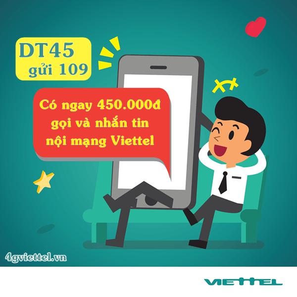 Gói cước đổi tiền DT45 Viettel