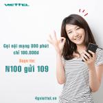 Đăng ký gói cước N100 Viettel ưu đãi gọi nội mạng hấp dẫn