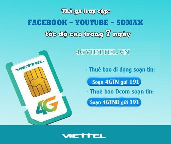 Chương trình trải nghiệm miễn phí 4G Viettel trong 7 ngày truy cập mạng siêu tốc độ
