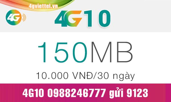 Đăng ký gói cước 4G10 Viettel chỉ 10.000đ