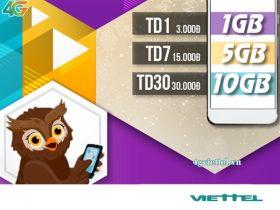Gói cước TD30 Viettel chỉ 30.000đ/tháng