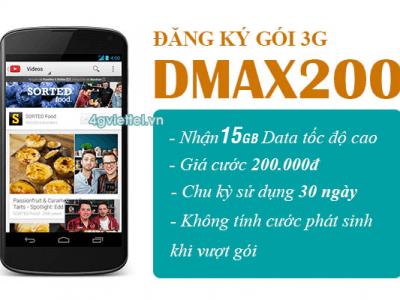 Đăng ký gói cước DMAX200 Viettel chỉ 200.000đ/tháng
