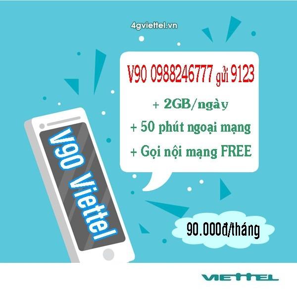 Đăng ký gói cước V90 Viettel chỉ 90.000đ
