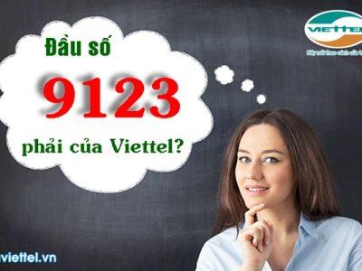 Đầu số 9123 là kênh đầu số của Viettel