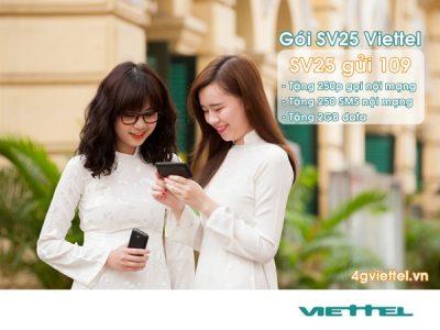 Đăng ký gói cước SV25 Viettel 25.000đ/tháng