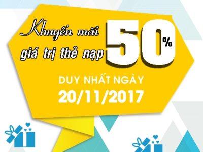 Viettel khuyến mãi 20/11/2017 ưu đãi ngày vàng