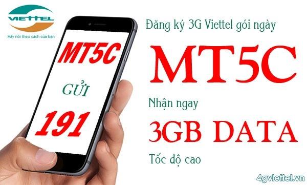 Gói cước MT5C Viettel chỉ 5.000đ/tháng