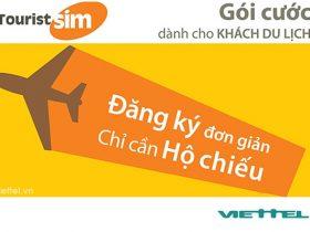 Gói cước Tourist Viettel gói cước hòa mạng trả trước cho khách nước ngoài