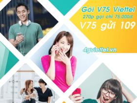 Đăng ký gói cước V75 Viettel chỉ 75.000đ/tháng