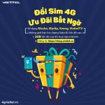 Đổi sim 4G Viettel nhận ưu đãi trải nghiệm 7 ngày
