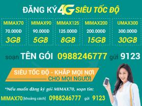Bảng giá các gói cước 4G Viettel giá rẻ data khủng