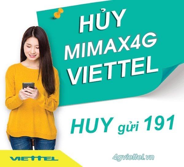 Hướng dẫn cách hủy gói MIMAX4G Viettel bằng tin nhắn