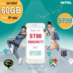 Đăng ký gói cước ST90 Viettel ưu đãi 2GB x 30 ngày = 60GB