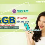 Đăng ký gói MIMAX125 Viettel ưu đãi 8GB data giá chỉ 125.000đ