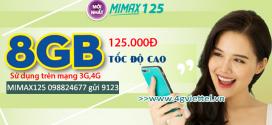 Đăng ký gói cước MIMAX125 Viettel ưu đãi trọn gói data chỉ 125.000đ