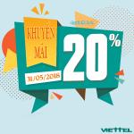 Viettel khuyến mãi 31/5/2018 ưu đãi ngày vàng