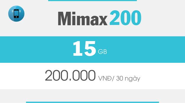 Đăng ký gói cước MIMAX200 Viettel ưu đãi data trọn gói