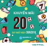 Viettel khuyến mãi 30/6/2018 cho thuê bao trả trước