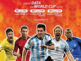 Đăng ký gói cước World Cup WC Viettel thả ga data mùa World Cup