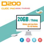 Đăng ký gói cước D200 Viettel cho Dcom chỉ 200.000đ/tháng