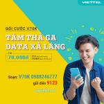 Đăng ký gói cước V70K Viettel chỉ 70.000đ/tháng ưu đãi 2 trong 1