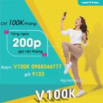 Đăng ký gói cước V100K Viettel khuyến mãi gọi nội mạng
