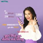 Đăng ký gói cước V5K Viettel ưu đãi 25p gọi và 250MB