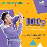Đăng ký gói cước V50k Viettel chỉ 50.000đ/tháng